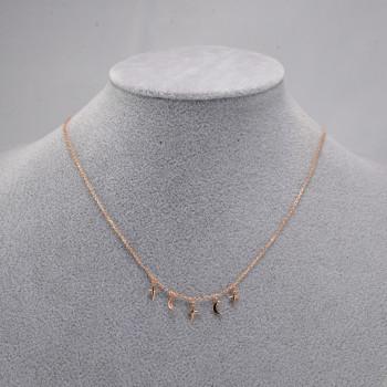Minimalist necklace rose
