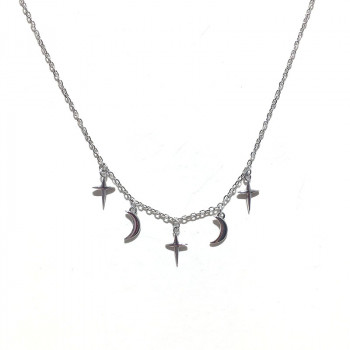 Minimalist necklace silver