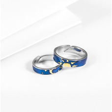 Sun and Moon couple's rings