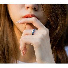 Delicate Moon Ring