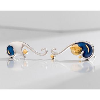 Van Gogh Starry Night earrings