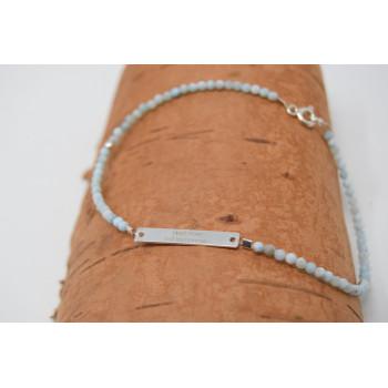 Start now aquamarine bracelet