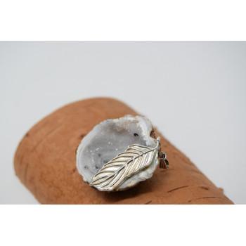 Unique pendant agate with quartz crystal